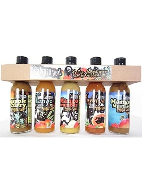Private Label 5 Hot Sauce Neck Holder, Holds 5/5oz Bottles