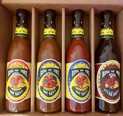Ring of Fire Hot Sauce Gift Box, 4/12.5oz.