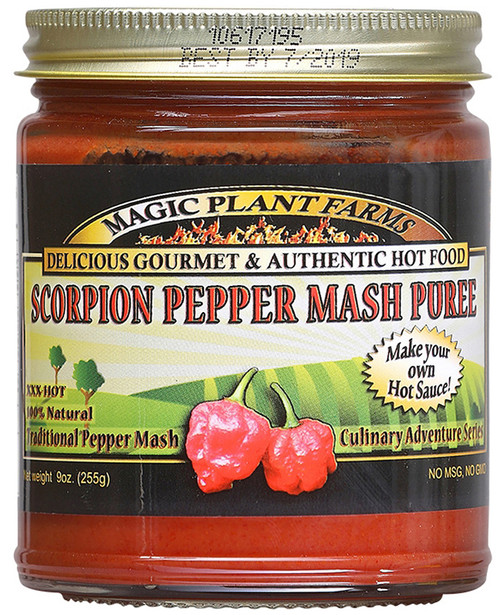 Magic Plant Farms Scorpion Pepper Mash Puree, 9oz.