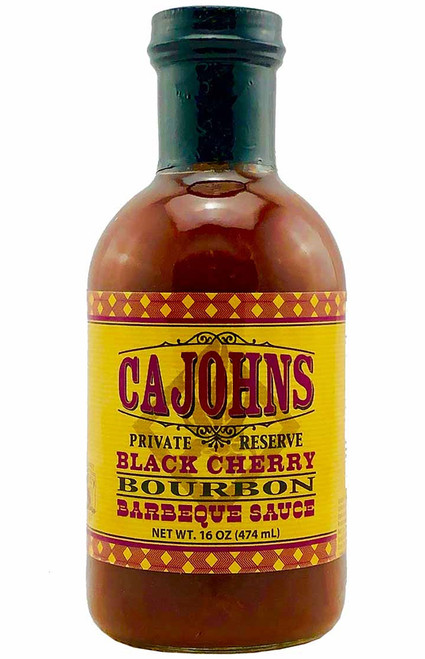 CaJohn's Black Cherry Bourbon Barbecue Sauce, 16oz.