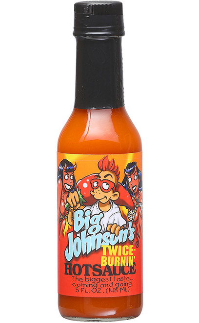 Big Johnson's Twice Burnin Hot Sauce, 5oz.