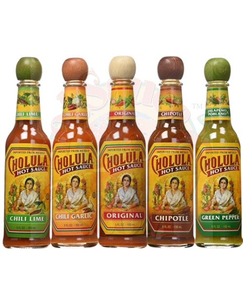 Cholula Hot Sauce Complete 5 Pack Gift Set, 5/5oz.