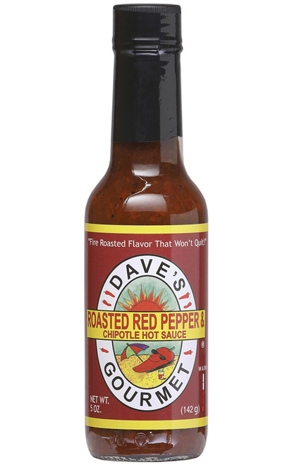 Dave's Gourmet Roasted Red Pepper & Chipotle, 5oz.