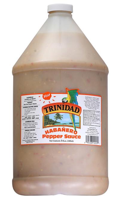 Trinidad Hot Pepper Sauce Gallon, 128oz.