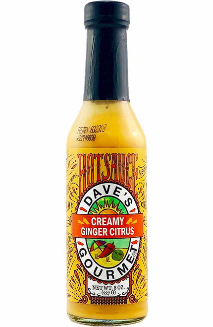 Dave's Gourmet Creamy Ginger Citrus Hot Sauce, 8oz.