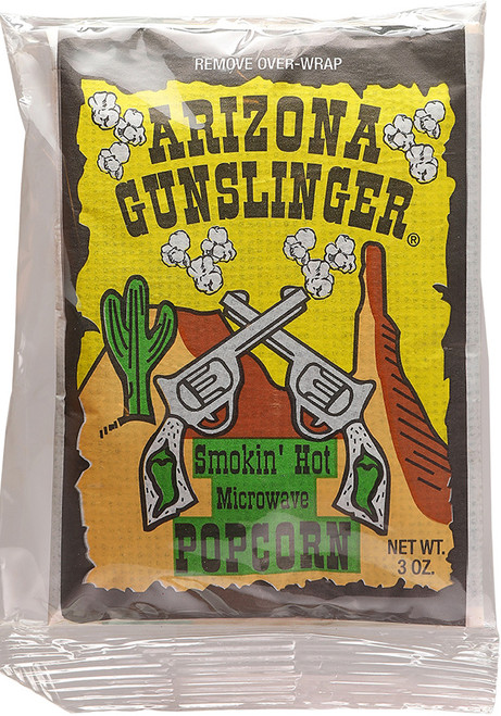 Arizona Gunslinger Smokin' Hot Microwave Popcorn, 3oz.