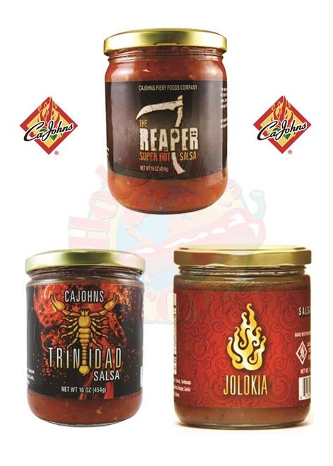 CaJohn's Hottest Salsa's Gift Set, 3/16oz.