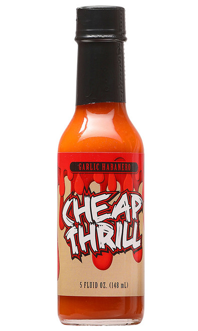 Cheap Thrill Garlic Habanero Hot Sauce, 5oz.