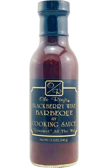 Ole Ray's Blackberry Wine BBQ and Cooking Sauce, 13.5oz.