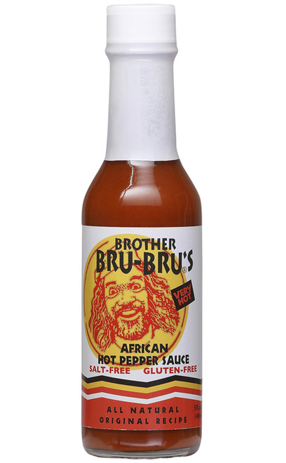 Brother Bru-Bru's African Chili Pepper Sauce, 5oz.