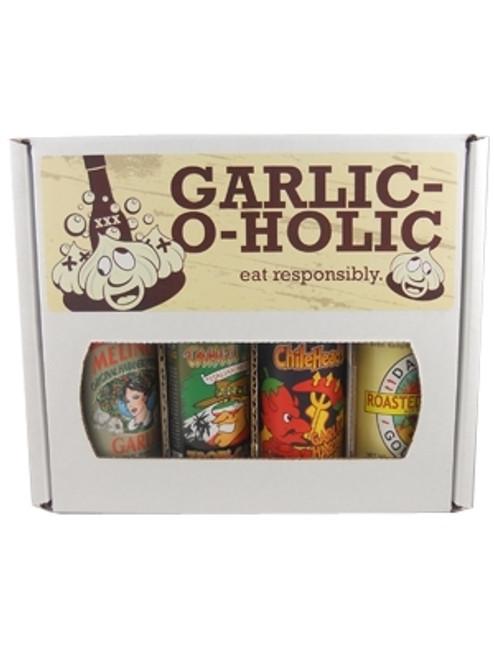 Garlic -O- Holic Hot Sauce Gift Set, 4/5oz.