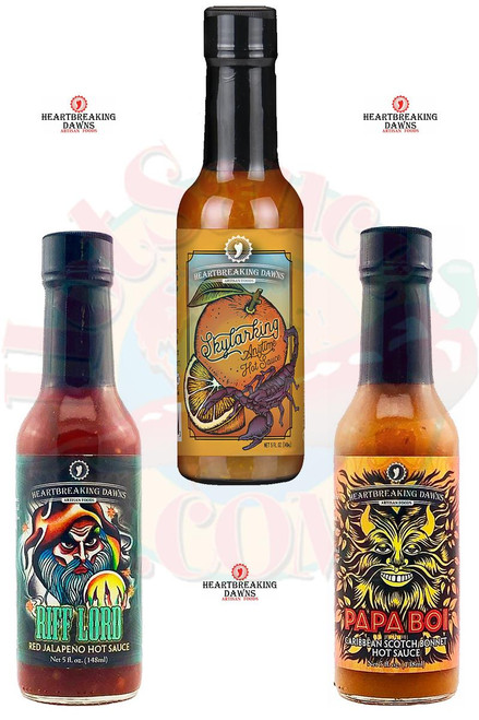 Heartbreaking Dawns Fruity Heat Hot Sauce Gift Set, 3/5oz.
