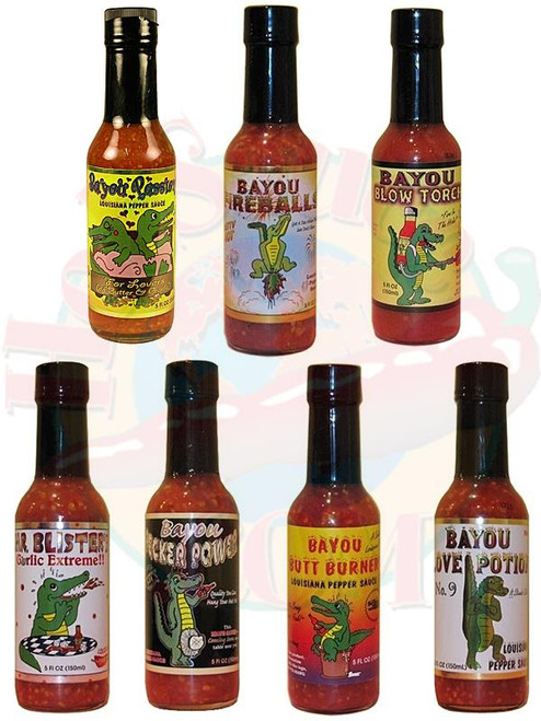 Bayou Hot Sauce Complete Gift Set, 7/5oz.