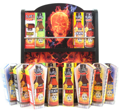 Blair's Ultimate Death Hot Sauce Collector's Rack, 16/5oz. (Sold Out)