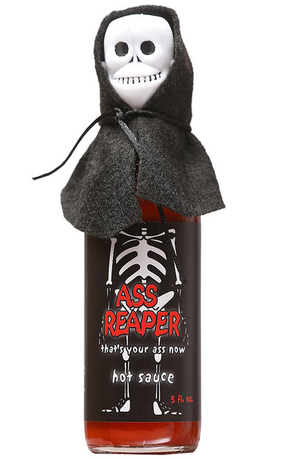 Ass Reaper Hot Sauce with Skull Cap and Cape, 5oz.