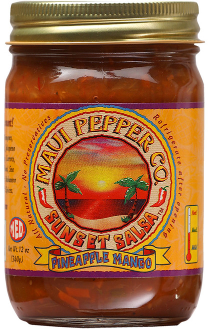 Tahiti Joe's Maui Pepper Sunset Salsa Pineapple - Medium, 12oz.