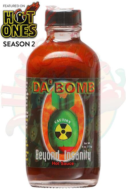 Da Bomb Beyond Insanity Hot Sauce, 4oz.