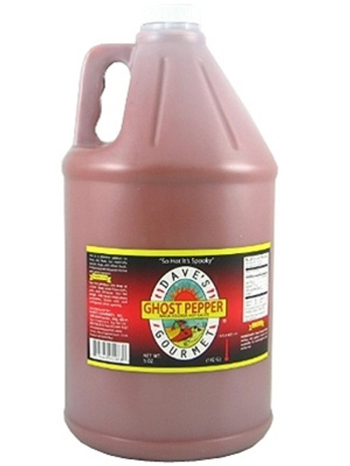 Dave's (NEW) Ghost Pepper Naga Jolokia Hot Sauce, (Gallon) 128oz.
