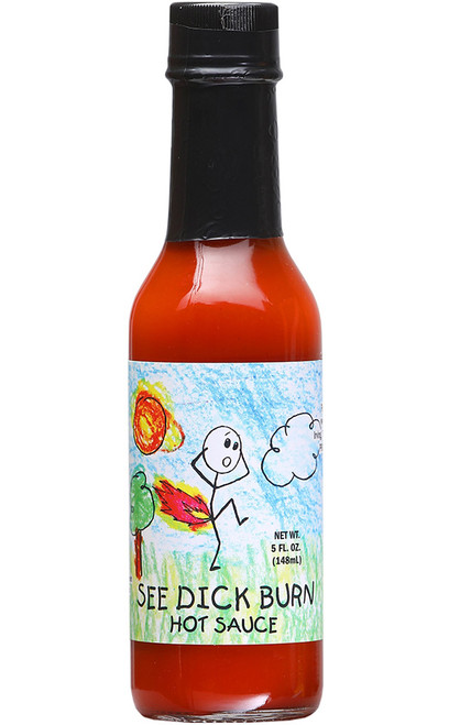 See Dick Burn Hot Sauce, 5oz.
