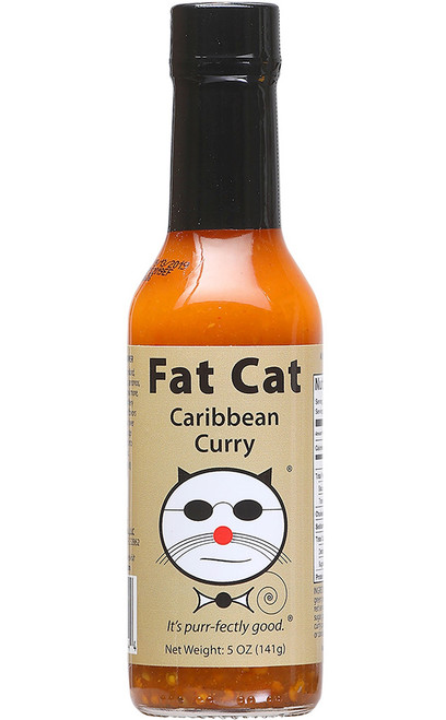 Fat Cat Caribbean Curry Hot Sauce, 5oz.