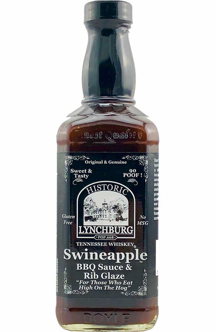 Historic Lynchburg Tennessee Whiskey Swineapple Rib Glaze and Dippin' Sauce, 16oz.