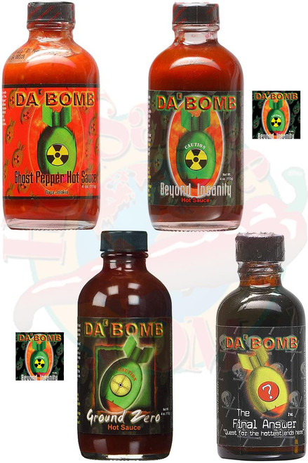 Da Bomb Ultimate Sauce & Extracts Gift Set, 3/4oz., 1/2 oz.