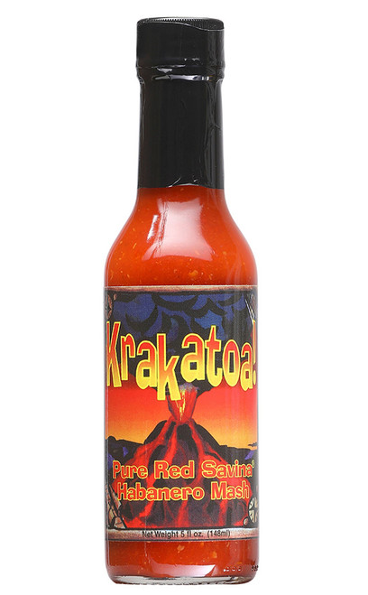 Krakatoa! Pure Red Savina Mash Hot Sauce, 5oz.