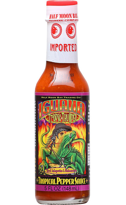 Iguana Tropic Thunder Red Jalapeno & Habanero Tropical Pepper, 5oz.