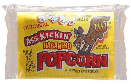 Ass Kickin Hot Habanero Popcorn, 3.5oz.