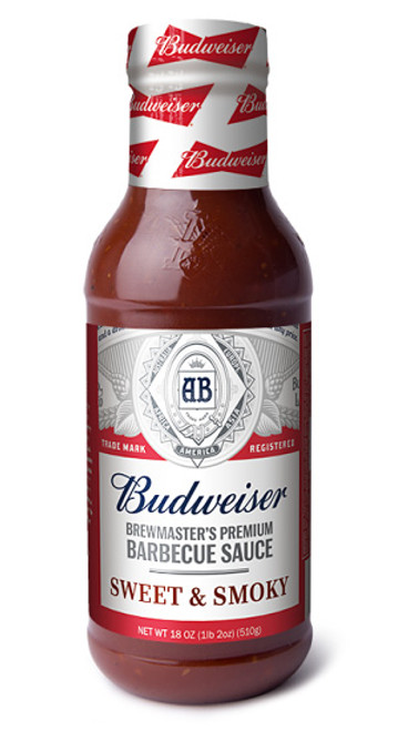 Budweiser Brewmaster's Premium Barbecue Sauce SWEET and SMOKY, 18oz.