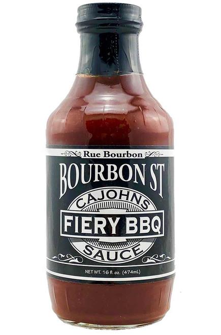 CaJohn's Bourbon Street Fiery BBQ Sauce, 16oz.