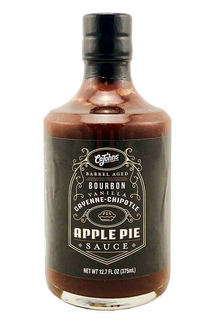 CaJohn's (Special Edition) Barrel Aged Bourbon Vanilla Cayenne Chipotle Apple Pie Sauce, 12.7oz.