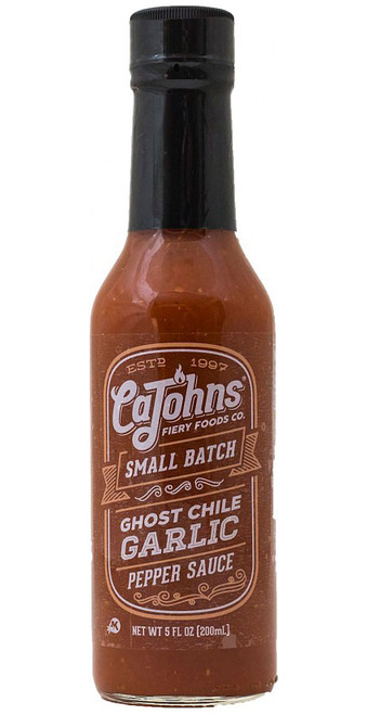 CaJohn's Small Batch Ghost Garlic Pepper Sauce, 5oz.