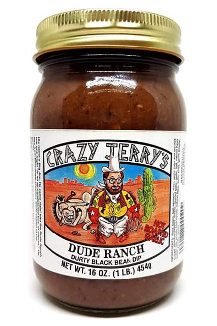 Crazy Jerry's Spicy Dude Ranch Durty Black Bean Dip, 16oz.