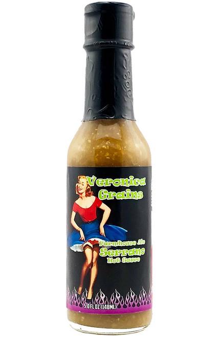 Veronica Grains Farmhouse Ale Serrano Hot Sauce, 5oz.