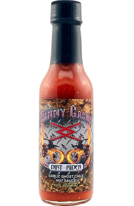 Danny Cash's Dirt Rider Garlic Ghost Chile Hot Sauce, 5oz.