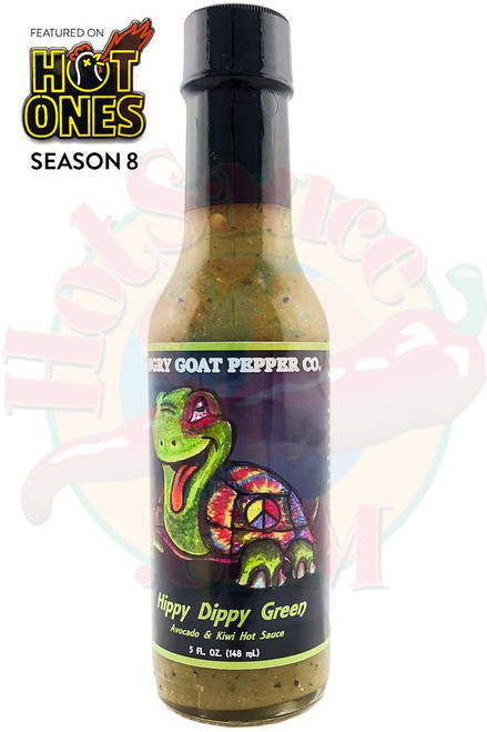 Angry Goat Pepper Co. Hippy Dippy Green Hot Sauce, 5oz.