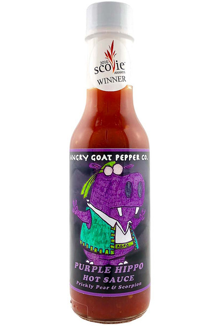 Angry Goat Pepper Co. Purple Hippo Hot Sauce, 5oz.