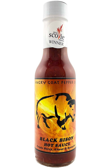 Angry Goat Pepper Co. Black Bison Hot Sauce, 5oz.