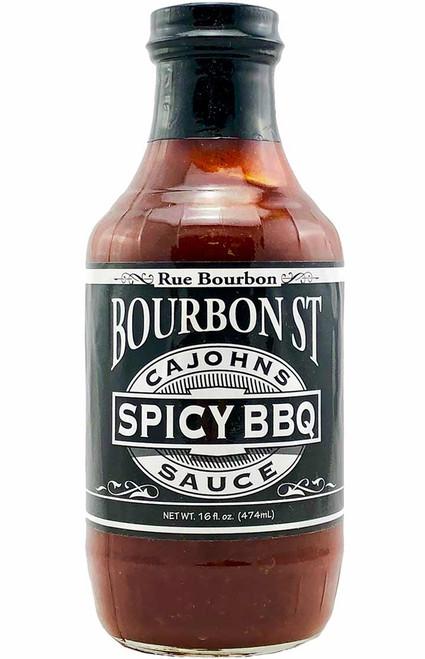 CaJohn's Bourbon Street Spicy BBQ Sauce, 16oz.