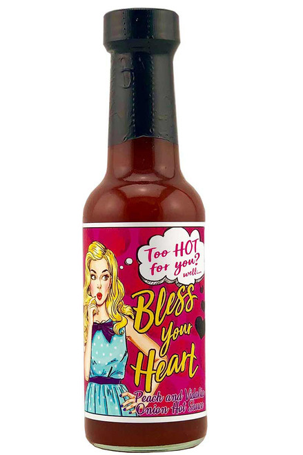 Bless Your Heart Peach and Vidalia Onion Hot Sauce, 5oz.