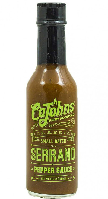CaJohn's Classic Small Batch Serrano Pepper Sauce, 5oz.