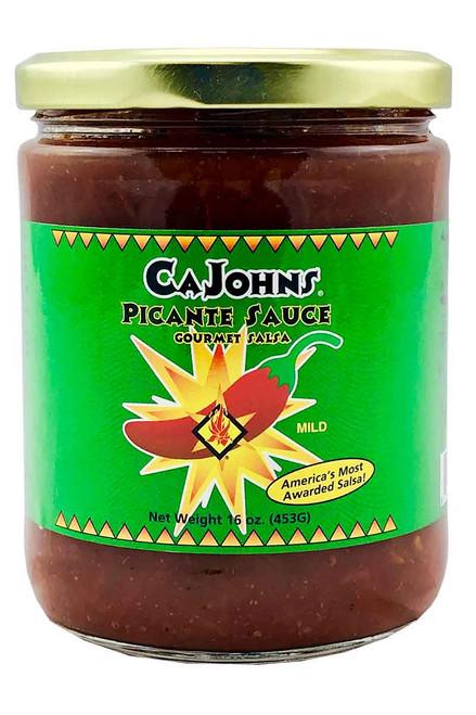 CaJohn's Mild Picante Sauce Gourmet Salsa, 16oz.
