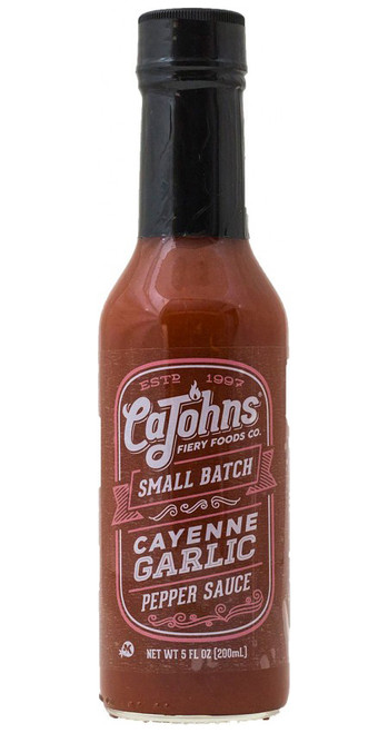 CaJohn's Small Batch Cayenne Garlic Pepper Sauce, 5oz.