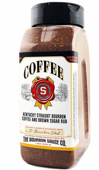 Kentucky Straight Bourbon Coffee and Brown Sugar Rub, 12oz.
