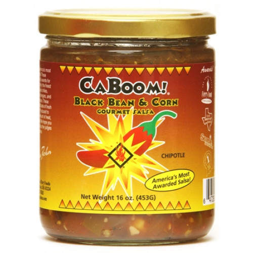 CaJohn's Black Bean and Corn Chipotle Gourmet Salsa, 16oz.