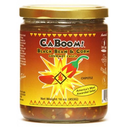 Cajohn's Black Bean and Corn Chipotle Gourmet Salsa, 16oz.
