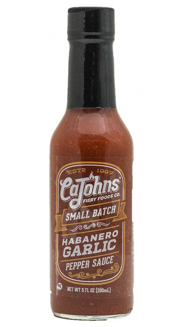 CaJohn's Small Batch Habanero Garlic Pepper Sauce, 5oz.