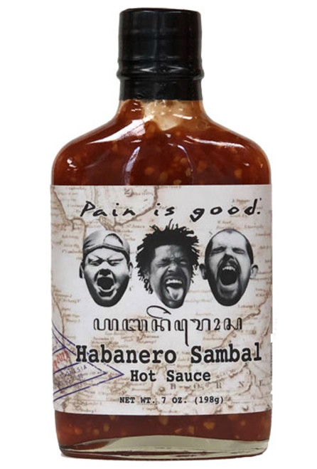 Pain is Good Habanero Sambal Hot Sauce, 7oz.