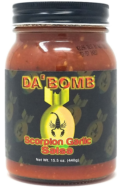 Da Bomb Scorpion Garlic Salsa, 15.5oz.